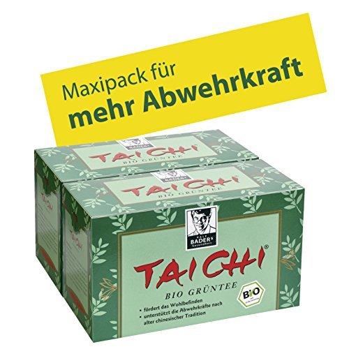 BADERs Tè verde biologico Tai Chi. Aumenta il benessere e supporta il sistema immunitario secondo l'antica tradizione cinese. Naturale, senza aromi aggiunti. Numero centrale farmaceutico: 01436805