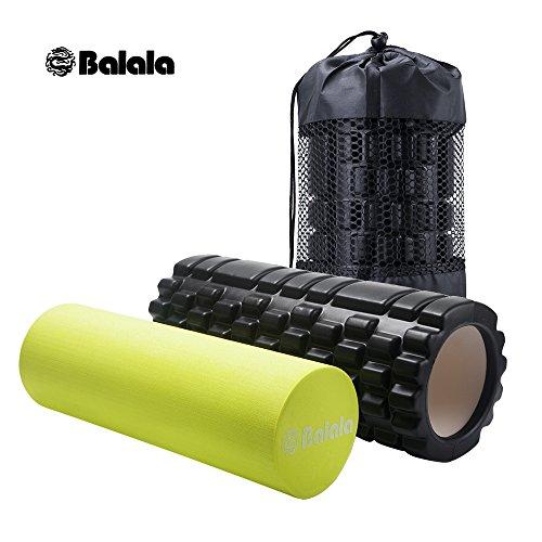 Balala Faszienrolle Fitness Foam Roller Gymnastikrolle, Massagerolle, Schaumstoffrolle zur Triggerpunkt-Selbstmassage und Verbesserung des Bindegewebes mit Tragetasche beim Faszientraining
