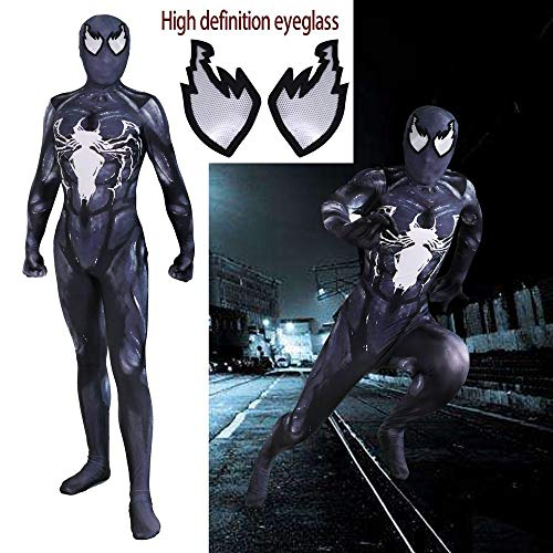 werty Cosplay Kleidung Venom Symbiote Cosplay Kostüm Lycra Anime Kostüm 3D Digitaldruck Enge Weihnachten Halloween Kostüm Für Erwachsene Tragen Siamese-XXXL