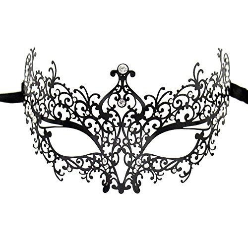 Lady of Luck Metall Venezianischen Maskerade Maske Kristallen Laser Cut für Frauen