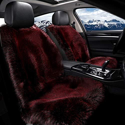 JXHD 1Pcs Auto Beheizte Sitzkissen/Heizkissen, 12V / 24V Winter Plüsch Heizung Und Massage 2-in-1 Einzelsitz-Matte, In 3 Farben Erhältlich,Red-12V