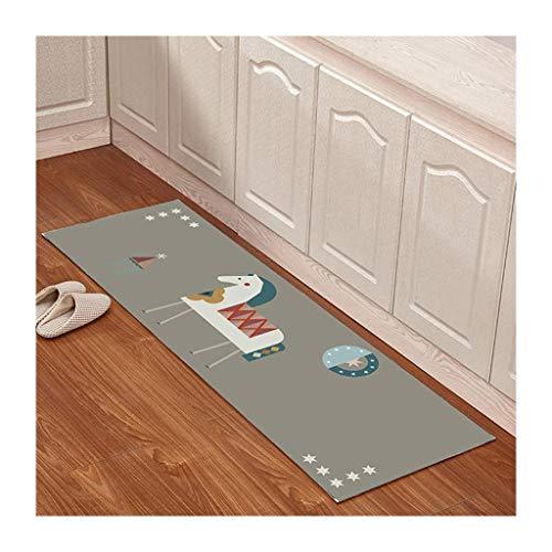 Bay-schlafzimmer-set (Qiaoquanbao & Stoff Dekoration Home Kitchen Floor Mat , rutschfeste Wasseraufnahme und pflegeleicht, Schlafzimmer Bay Window Carpet Set (Color : B, Size : 60 * 180cm))