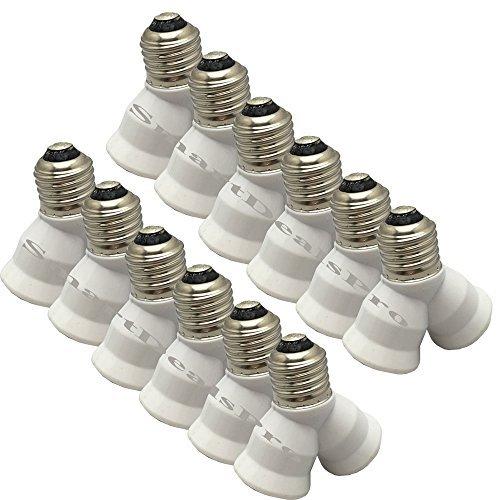 SmartDealsPro 12Pieces E27Y Form 1männlich zu 2weiblich LED Licht Splitter Birne Sockel Adapter Lampenfassung Konverter (Weiblichen Adapter-konverter-wechsler)