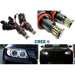 2x White Cree LED Angel Eye Headlight Halo Ring Light DRL H8 Bulb 120W Canbus For E90 E92 E82 E60 E70 E71 E84