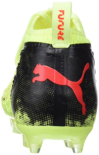 Puma Future 18.2 Netfit FG/AG, Chaussures de Football Homme Jaune (Fizzy Yellow-red Blast-puma Black)