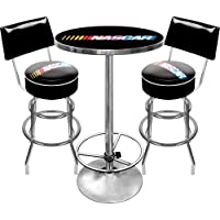 NASCAR Ultimate Gameroom Combo - 2 Bar Stools with Back & Pub Table