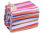 #5: Trident 100 % Cotton King Extra Soft, Long durability High Quality Premium Range Stripped Towel 24 x 48 inches (Set of 12)