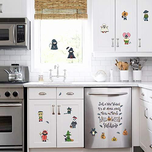 Kawaii Cartoon Halloween PVC Wandaufkleber Für Kinder Schlafzimmer Fenster Hintergrund Dekoration Poster Wandbilder