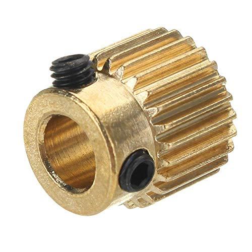 Professional 22% Zähne (26 Zähne 5 mm Messing Extrusion Wheel Gear für 3D-Drucker)