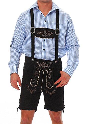 Geißenpeter -  Lederhosen  - corto - uomo nero