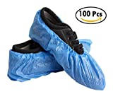 50 Pairs Disposable Shoe Covers Non Slip Waterproof Thicker,100 Pieces,Blue,One Size fits All