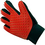 #10: Inditradition Pet Grooming Glove, Hair Removal & Deshedding Brush Glove | Pet Massage Glove, for Right Hand, Pack of 1 (Red)