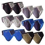 6-12 Slips Herren Unterhosen Männer Slip Unterwäsche Herrenunterwäsche Unterhose Pants aus Baumwolle (XXL, 12.Stück 560)