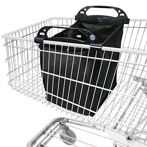 achilles®, Easy-Shopper LIN, AD101LINbl, Faltbare Einkaufswagentasche, schwarz, 33 x 39 x 54 cm