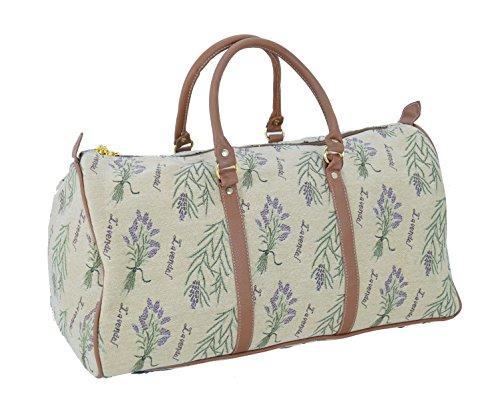 Reisetasche aus Web-Stoff Gobelin Signare Tapisserie Fa. Bowatex (Lavendel) Lavendel