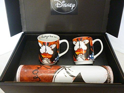 Disney Walt WMSET/22 Set Mug Sweet Love e Tovaglietta, Porcellana, Rosso, 4 unità