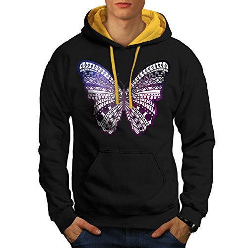 cosmique-papillon-insecte-beaute-homme-nouveau-noir-avec-capuche-dore-l-capuchon-contraste-wellcoda