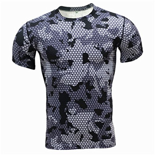 Men's Flower Camouflage Style Breathable Tee Shirt 7