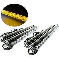 DiiZii Barra de luz Estroboscópica para Coche, camioneta, 12 V, Impermeable, 36 Ledes, Color Amarillo, Tamaño 2 PC