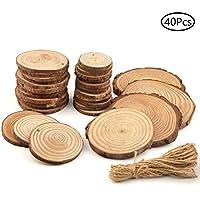 Fenteer 50 St/ück Rustikale Halbe Runde Holzscheiben Naturholzscheiben zum basteln Scheiben f/ür DIY Handwerk Hochzeit Weihnachten Ornamente