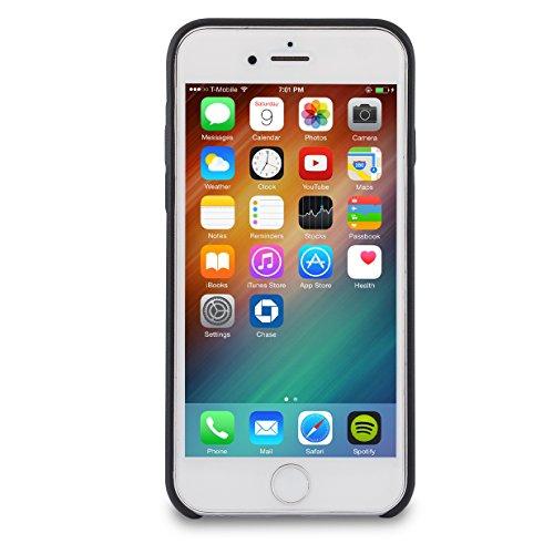 "iPhone 8 Plus Hülle / iPhone 7 Plus Hülle Rose Gold - CASEZA ""Berlin"" Kunstleder Case - Ultra dünnes Leder Backcover für das Original Apple iPhone 8 Plus & 7 Plus - Premium PU Lederhülle Ledertasche Schwarz iPhone 8 & 7"