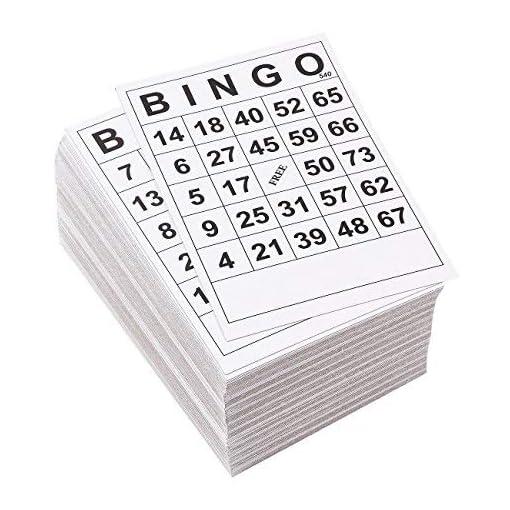 Juvale-Bingo-Karten-180-Stck-Einweg-Bingo-Spielkarten-Papierspielkarten-fr-Familienabende-Wohlttigkeitsorganisationen-Partys-Schwarz-und-Wei-152-x-101-cm