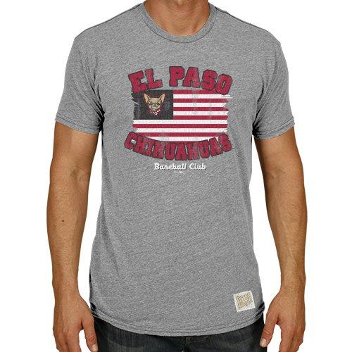 Original Retro Brand Minor League Baseball EL Paso Chihuahuas Men's T-Shirt, XX-Large, Grey Heather