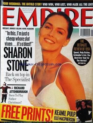 EMPIRE [No 1] du 01/01/1995 - SHARON STONE - RICHARD ATTENBOROUGH - KEANU - PULP - ELLE MACPHERSON.
