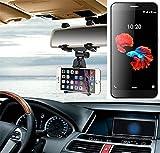 Für ZTE Blade A910 Smartphone Halterung Rückspiegel Halterung schwarz Auto Halterung für ZTE Blade A910 Spiegel KFZ Halter - K-S-Trade (TM)