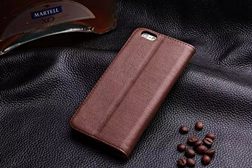 EKINHUI Case Cover Baum-Haut-Beschaffenheit Hochwertige echtes Leder-Standplatz-Fall-Abdeckung mit Einbauschlitz für IPhone 6 Plus u. IPhone 6s Plus ( Color : Rose ) Brown
