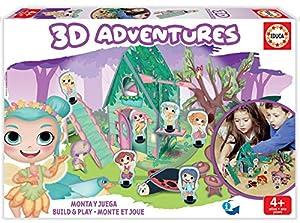 Educa Borrás-3D Adventures Hadas Puzzle 3D, Color Variado (18229)