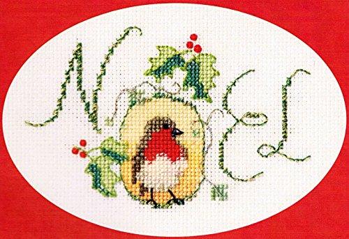 Biglietti Di Natale A Punto Croce.Derwentwater Designs Noel Biglietto Di Natale Con Pettirosso Kit Per