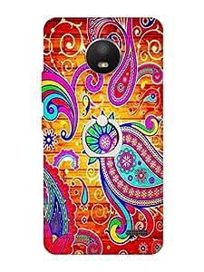 Go Hooked Soft Printed Back Cover with Finger Ring Stand for Motorola Moto E4 | Motorola Moto E4 Printed Back Cover | Back Cover for Motorola Moto E4