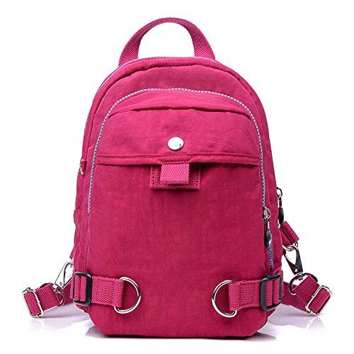 Outreo Rucksack Leichter Backpack Schul Daypack Lässige Tasche Rucksäcke Damen Schultaschen Wasserdicht Schulrucksack Reisetasche für Sport Rot 3