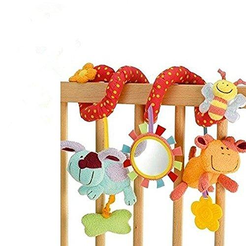 StillCool Musik Mobile Baby Kinder Twisty Spirale Pram Pushchairs Auto Sitzkissen Musik Bed Bell Babybett bunte Cartoon Spielzeug Geschenke