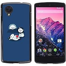 Be Good Phone Accessory // Dure Coquille de Protection Couvercle De Protection Étui Coque Housse pour LG Google Nexus 5 D820 D821 // Funny LOL Cute Lion Eating