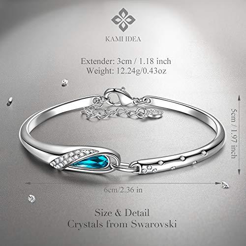 Imagen de kami idea san valentin regalos brazaletes pulseras mujer tous mujer joyeria cristal swarovski pulsera regalos originales para mujer mama regalo cumpleaños pulseras de amistad alternativa