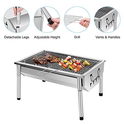 Zoom IMG-1 sunjas barbecue portatile a carbone