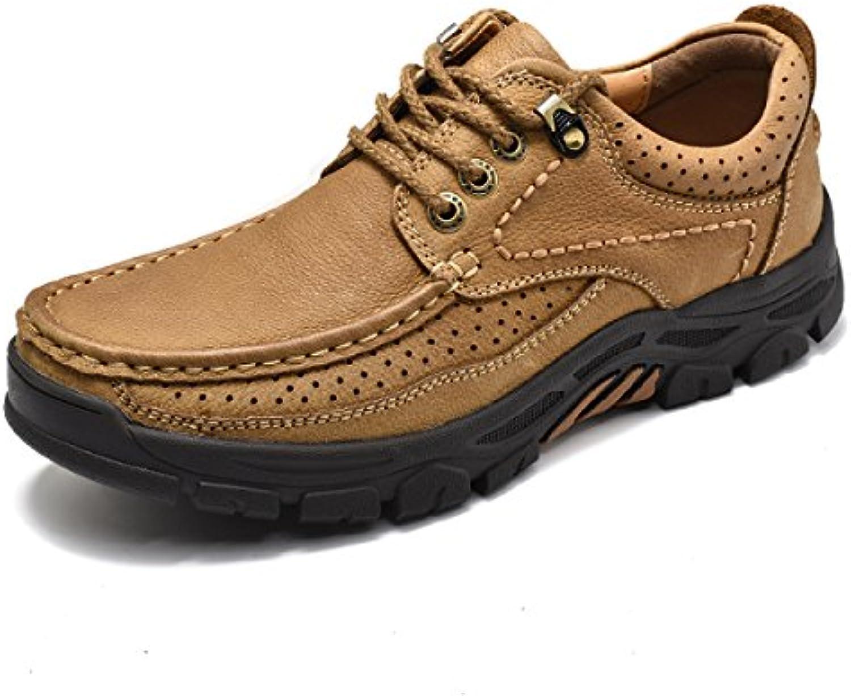 TZQ Outdoor Schuhe Sport Schock Camouflage Naht Wasserdicht Verpackt Sicherheit Gummisohle Verdickt Brown a 44
