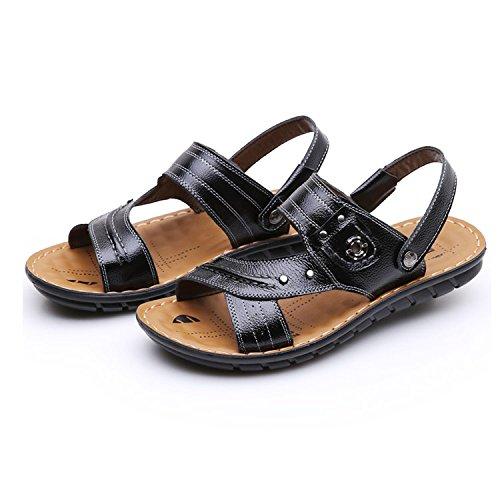 SU@DA Sandales/Chaussures/été cuir/authentique/été nouveau / / loisirs/hommes Black