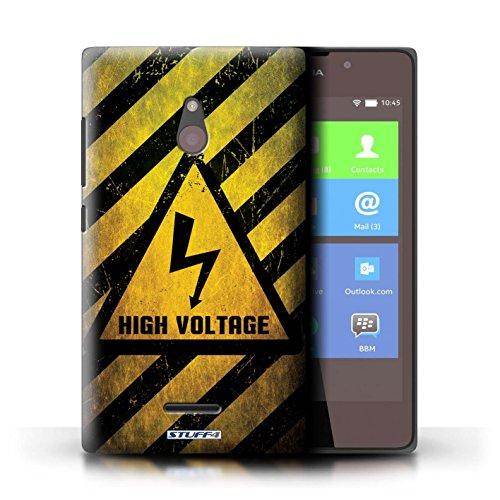 Kobalt® Imprimé Etui / Coque pour Nokia XL / électricité conception / Série Signes de Danger électricité
