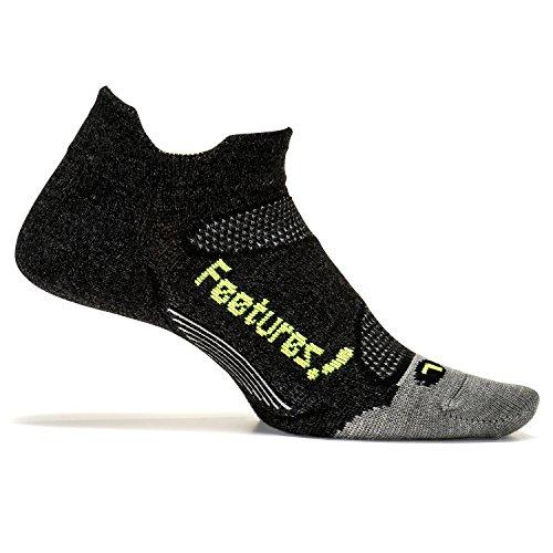 Feetures Elite Ultra Light Elite klar Kissen No Show Reiter -, grau, EM500592 - Cushioned No-show-sport-socken