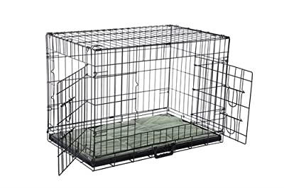 Confidence Pet Deluxe 2 Door Dog Cage Crate with Bed by Confidence