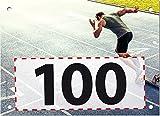 100 Startnummern Sprint, Papier classic-race, Format 20 x 14,5 cm (ca. DIN A5), nummeriert von Nummer 1