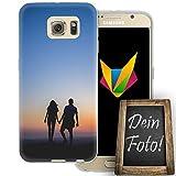 dessana Jahrestag Handyhülle Personalisiertes Geschenk dünne Silikon TPU Case Eigenes Foto Motiv für Samsung Galaxy S6 Ohne Text
