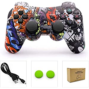 dainslef PS3 Controller Wireless Bluetooth Double Shock Sixaxis Remote Gamepad für Sony PS3 Playstation