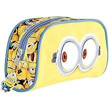 Estuche escolar Niño Mi Villano Favorito - Bolsa para lapices de la pelicula Minions - Estuche portatodo con cremallera para la escuela y de viaje - Amarillo - Perletti 9x20x5 cm