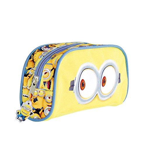 r Jungen Ich Einfach unverbesserlich - Schulmäppchen mit Minions - Federmäppchen mit Reißverschluss für die Schule und Reise - Gelb - Perletti 9x20x5 cm (Minion Bob Kinder Kostüme)