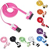 2M Flat Style USB 2.0 Sync Data Charging Cable Cord For iPhone 4 4S iPad3 3 2