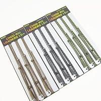FTD - selezione di 9 fili da pesca (3 pacchi da 3) Drennan ESP 1.50m,tre colori:mimetico,verde erba e fango,ideali per lanci a medio e corto